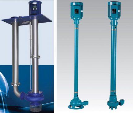 Semi-submersible sewage pumps