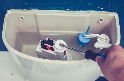 Toilet drain mechanism