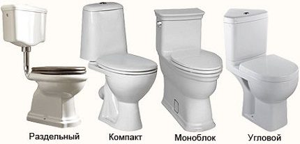 Varieties of flush toilet mechanisms