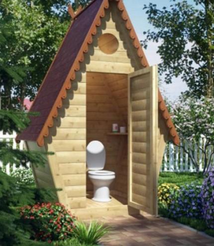 Rustic toilet