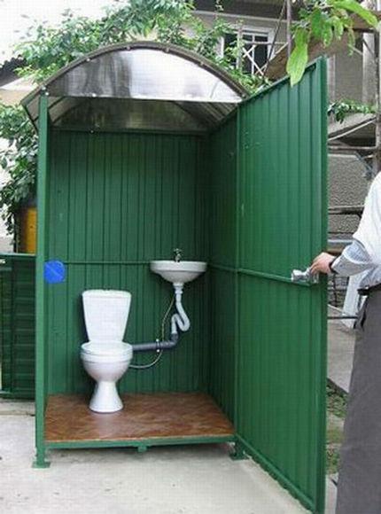 Metal toilet