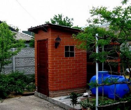 Brick toilet