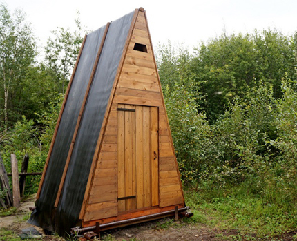 Toilet hut in the country