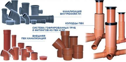 Types of sewer pipes