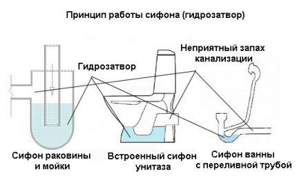 Types of plumbing siphons