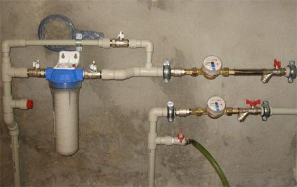 Water metering unit of the water supply system