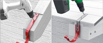 Installing gutter brackets