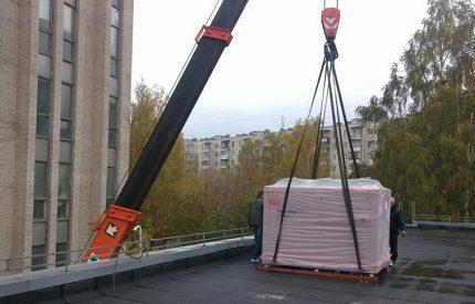 Rooftop chiller installation