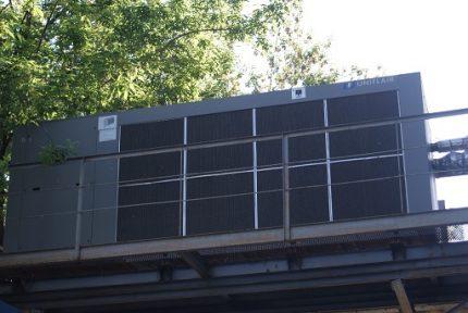 Chiller installation outside