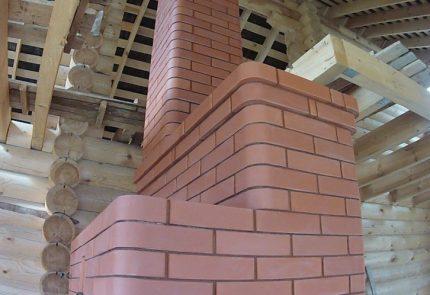 Cheminée en brique sur une cheminée