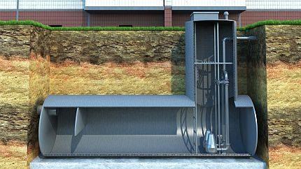 Large sewage pumping station