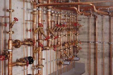 Système de tuyaux en cuivre