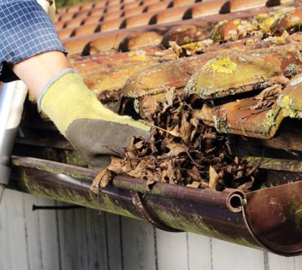 Mechanical cleaning of gutters
