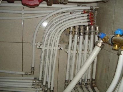 Metall-plaströr för uppvärmning