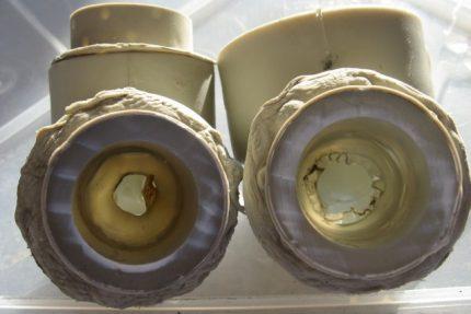 Surchauffe du tuyau en plastique avant le soudage