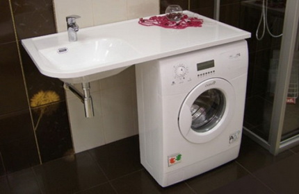 Mounting the sink over the washing machine