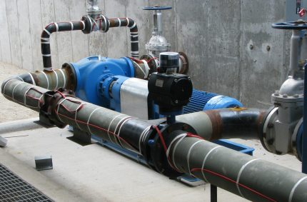 Pipes with self-regulating heating cable