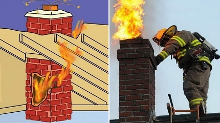 Allumage de cheminée
