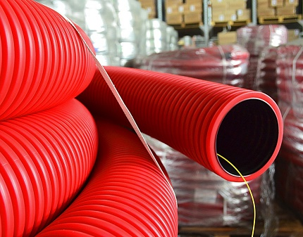 High rigidity of corrugated pipe