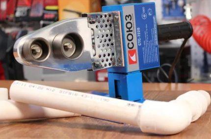 Fer à souder (fer) pour tuyaux en polypropylène