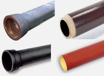 Types of cast iron pipes
