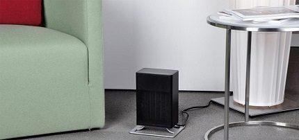 Radiateur soufflant au sol compact