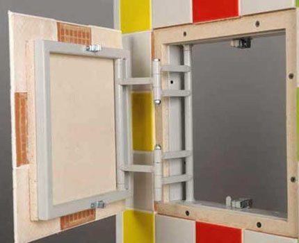 Tiled inspection window