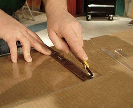 Cut cardboard box parts