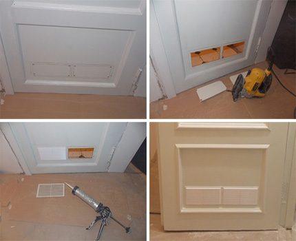 Processus de ventilation de porte