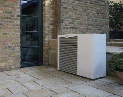 External heat pump unit