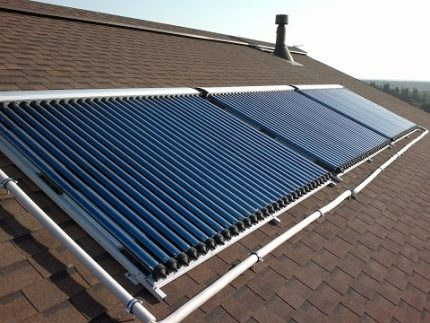 Industrial model of a solar collector