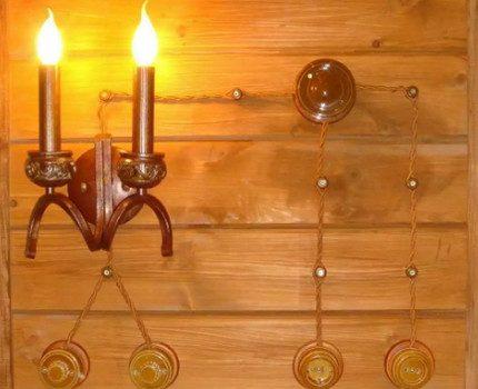 Éclairage de câblage extérieur