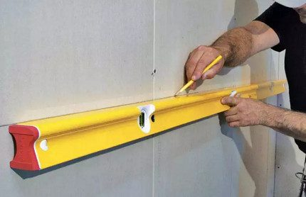 Niveau de construction au travail