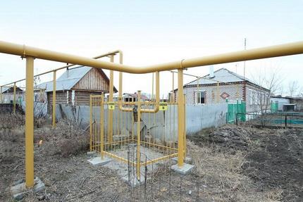 Installation aérienne de conduites de gaz