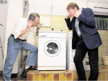 Washing machine is knocking