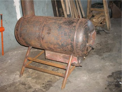 Old gas bottle
