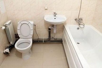 Rörledning i badrummet