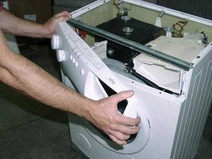 Dismantling the washing machine