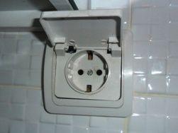Socket for washing machine