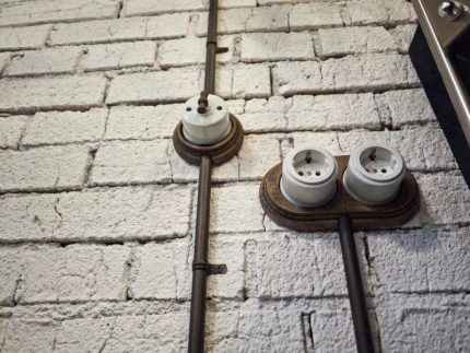 Installation of open wiring