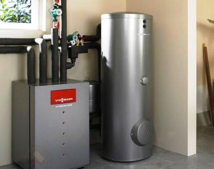Floor boiler with boiler