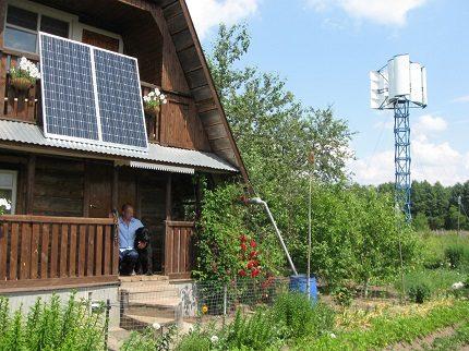 Solar battery for garden