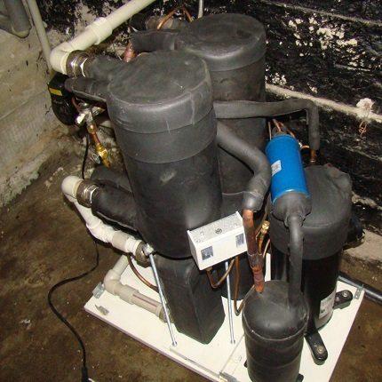Homemade heat pump