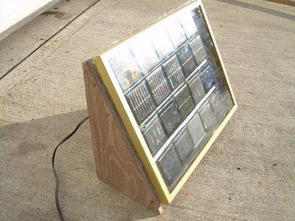 Solar battery on the frame