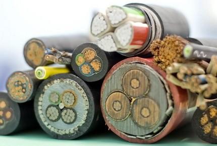 Câbles de différentes sections