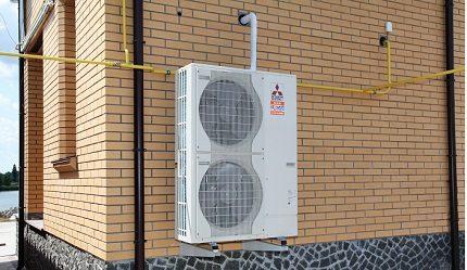 Industrial-made air heat pump