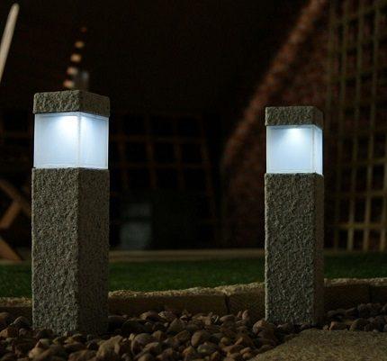 Garden lights for lighting