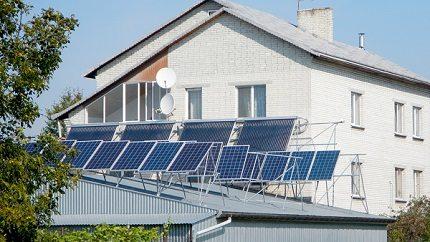 Full-fledged home-made solar station