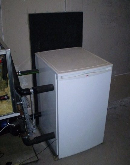 Homemade heat pump from the refrigerator