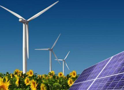 Combination of solar panels and wind generators